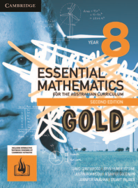 CAMBRIDGE ESSENTIAL MATHEMATICS GOLD FOR THE AUSTRALIAN CURRICULUM YEAR 8 TEXTBOOK + EBOOK